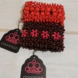 Paparazzi red and pink bracelet bundle